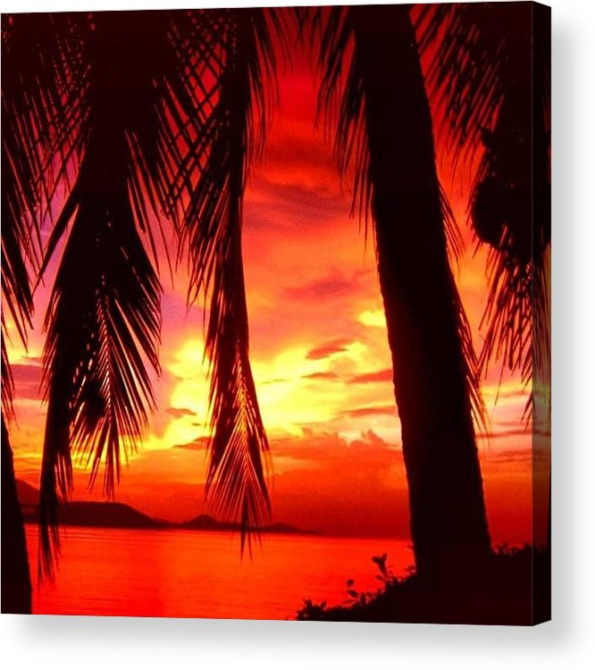 Iclandscapes Acrylic Print featuring the photograph Tropical Sunset - Thailand by Luisa Azzolini