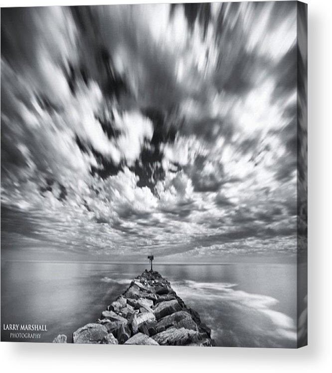 Acrylic Print featuring the photograph We Have Had Lots Of High Clouds And by Larry Marshall