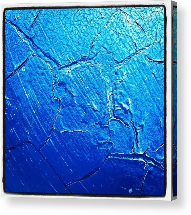 Abstract Acrylic Print featuring the photograph Weathered In Blue by CML Brown