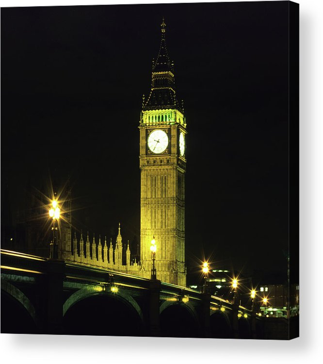 Gothic Style Acrylic Print featuring the photograph Westminster Bridge And Big Ben At by Hisham Ibrahim