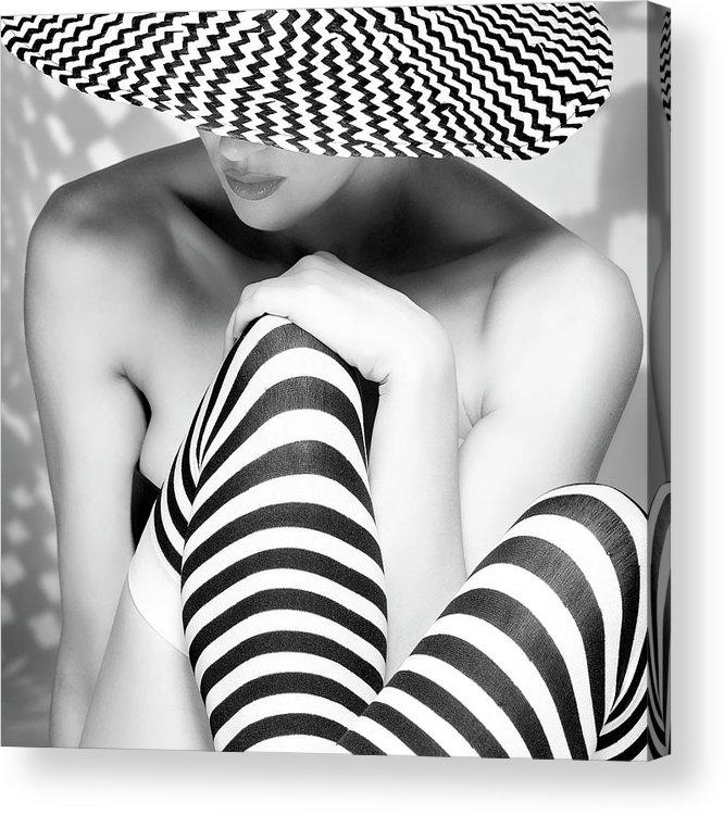 Stripes Acrylic Print featuring the photograph Zagging That Zig by Howard Ashton-jones