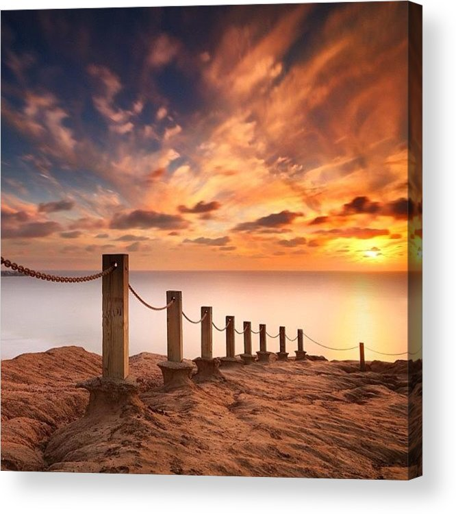 Acrylic Print featuring the photograph Long Exposure Sunset Taken From The by Larry Marshall