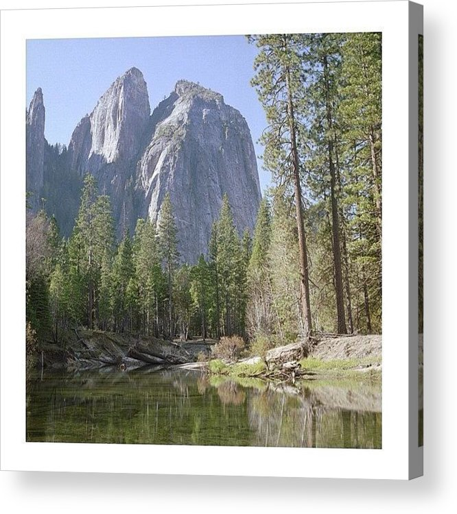 Europe Acrylic Print featuring the photograph 3 Brothers. Yosemite by Randy Lemoine