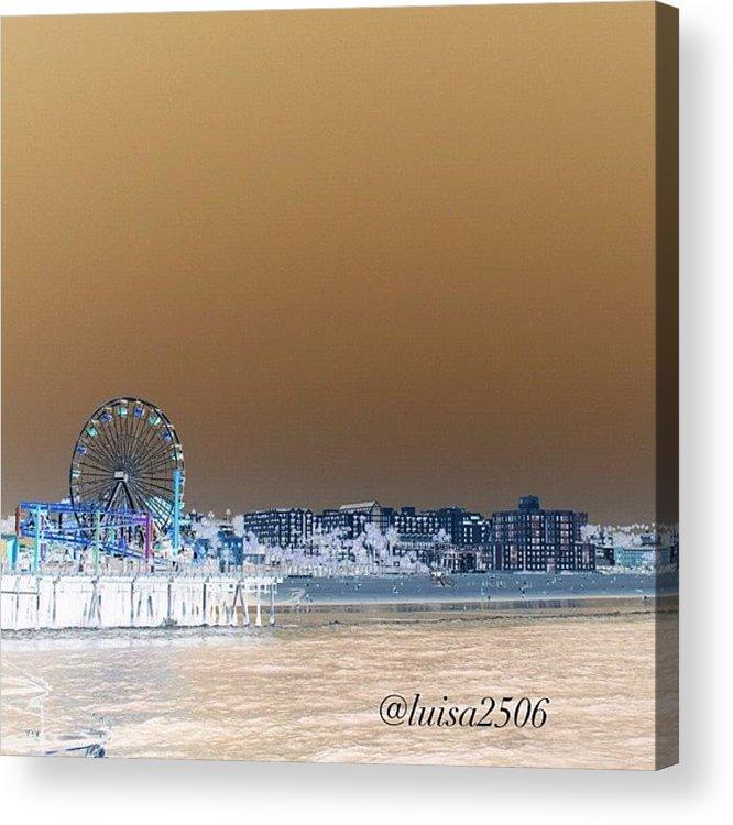Beautiful Acrylic Print featuring the photograph Santa Monica by Luisa Azzolini