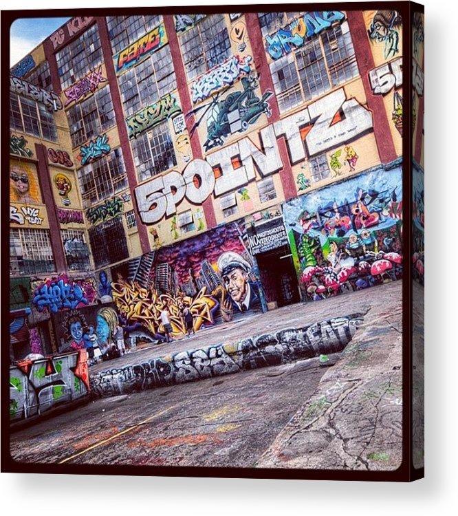 Summer Acrylic Print featuring the photograph 5 Pointz by Randy Lemoine
