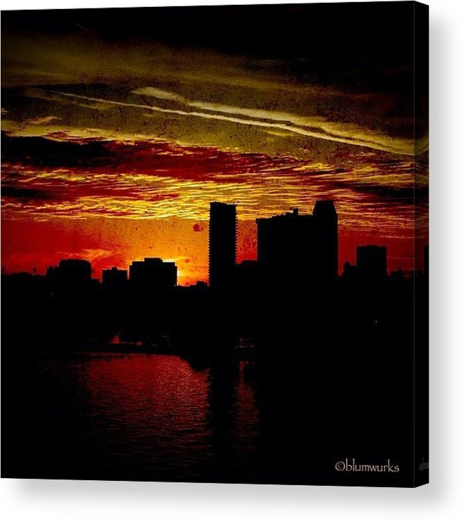 Building Acrylic Print featuring the photograph And Yet Another Day Closes by Matthew Blum