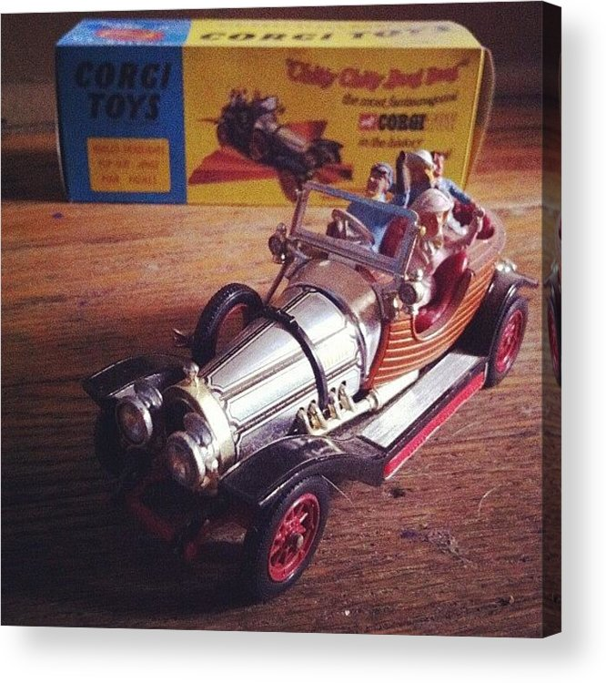 Car Acrylic Print featuring the photograph Chitty Chitty Bang Bang Corgi Toy by Katie Cupcakes