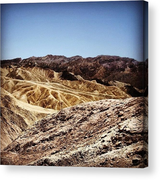 Usa Acrylic Print featuring the photograph Death Valley by Luisa Azzolini
