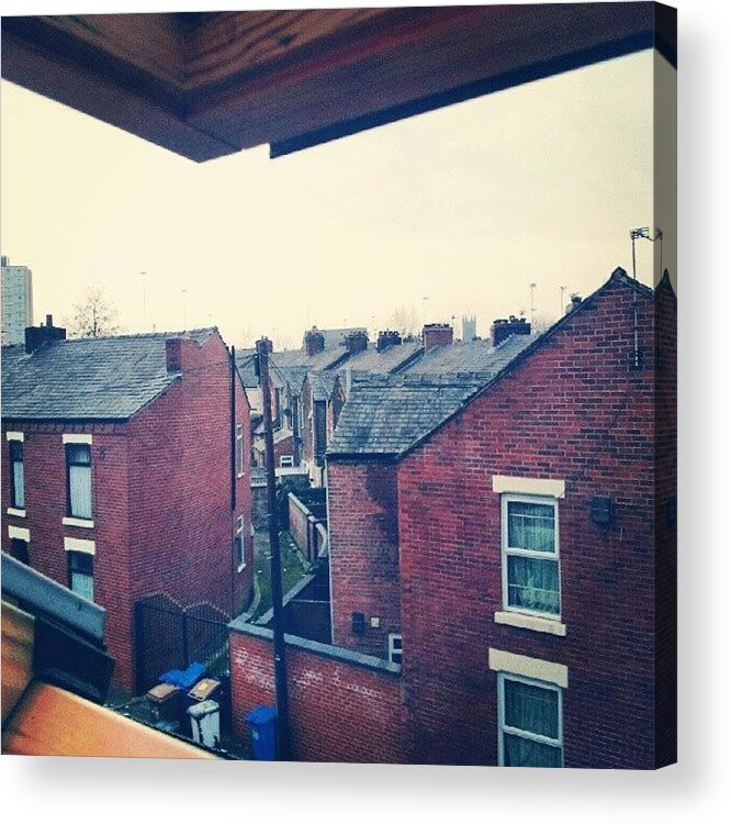 Salford Acrylic Print featuring the photograph Different Angle! #buildings #houses by Abdelrahman Alawwad
