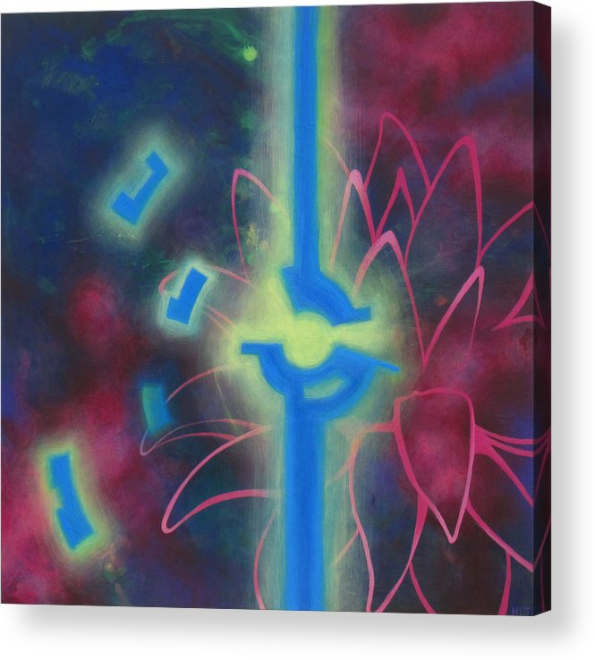 Lotus Acrylic Print featuring the painting Flying Lotus by Monica James