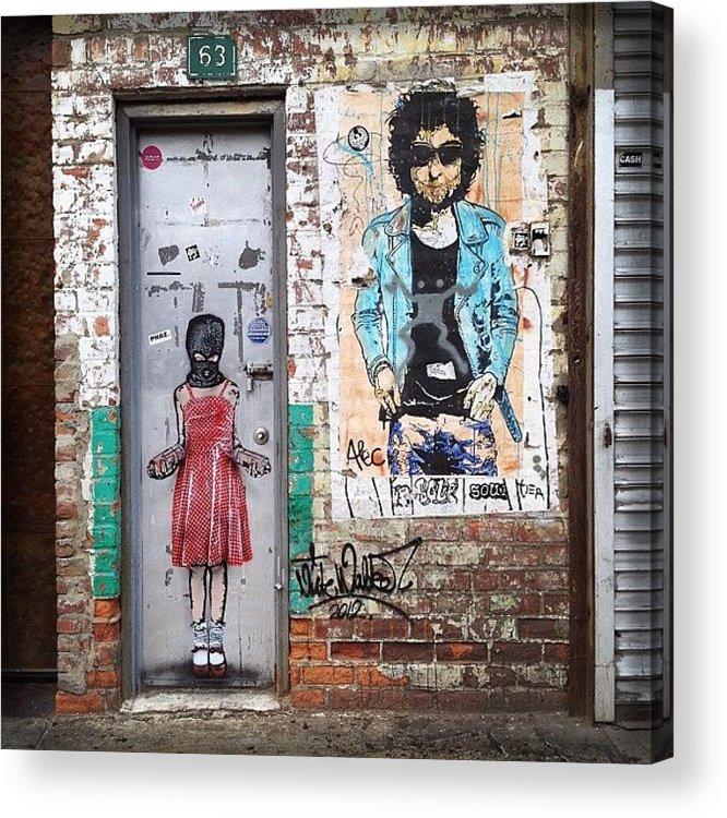 Summer Acrylic Print featuring the photograph Graffiti Artist by Randy Lemoine