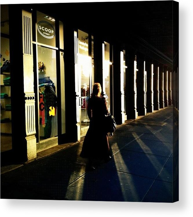 Shadows Acrylic Print featuring the photograph Lonely Winter Afternoon On Chelsea by Joel Lopez