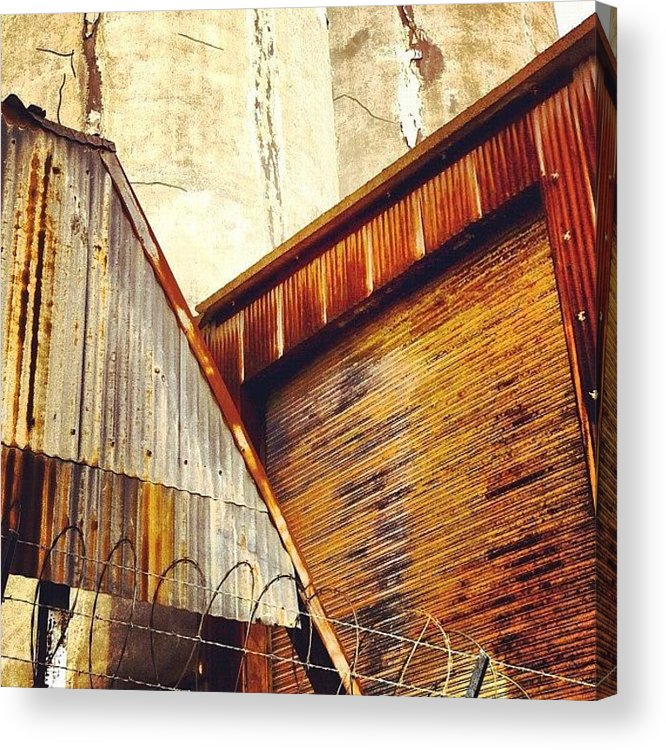 Industrial Acrylic Print featuring the photograph Looking Up by Julie Gebhardt