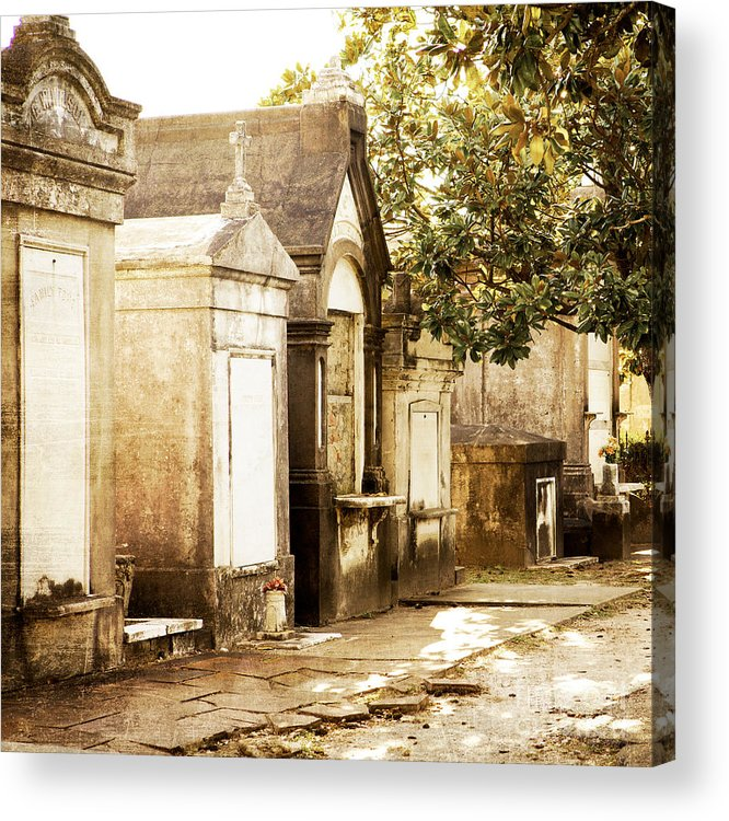 New Orleans Acrylic Print featuring the photograph New Orleans Lafayette Cemetery No.1 by Kim Fearheiley