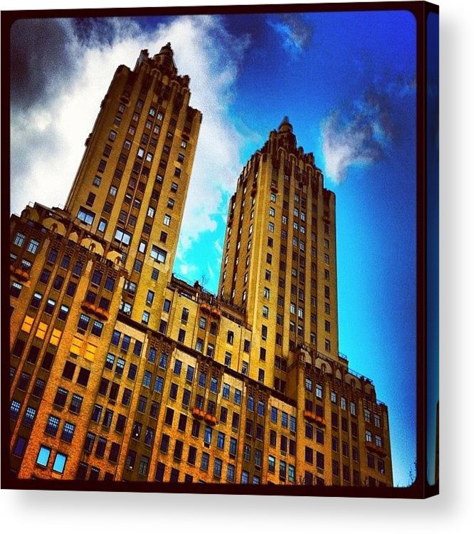 Building Acrylic Print featuring the photograph #nyc #clouds #centralpark #sky #building by Luke Kingma