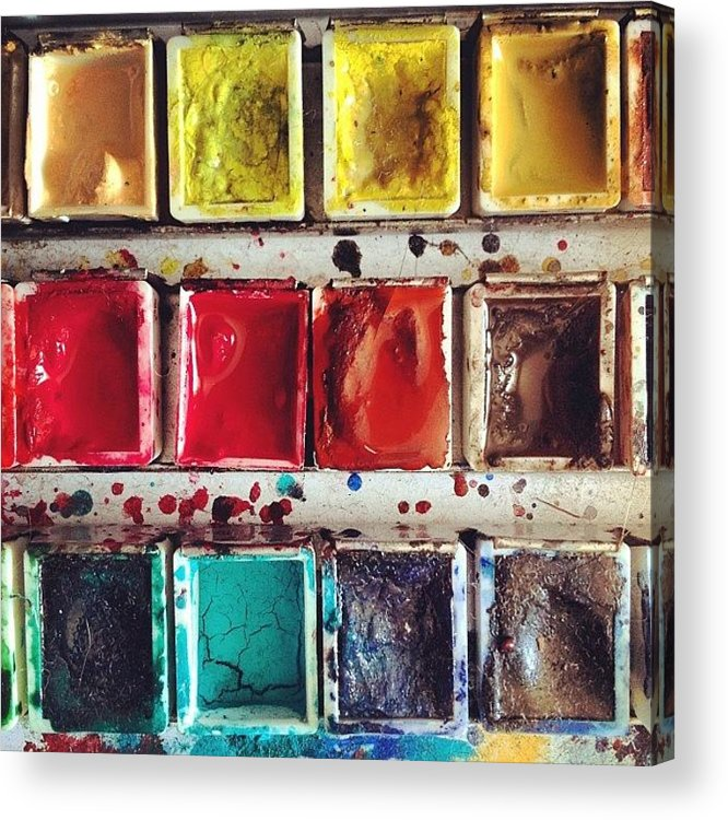 Paint Acrylic Print featuring the photograph Paintbox by Nic Squirrell