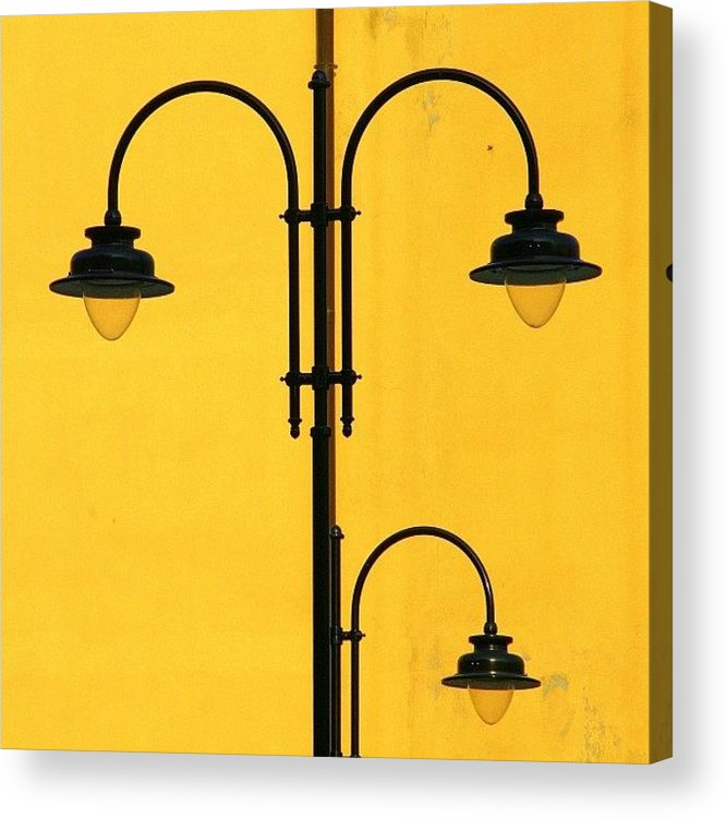 Decorative Acrylic Print featuring the photograph Shine On.. #italy #lamppost by A Rey