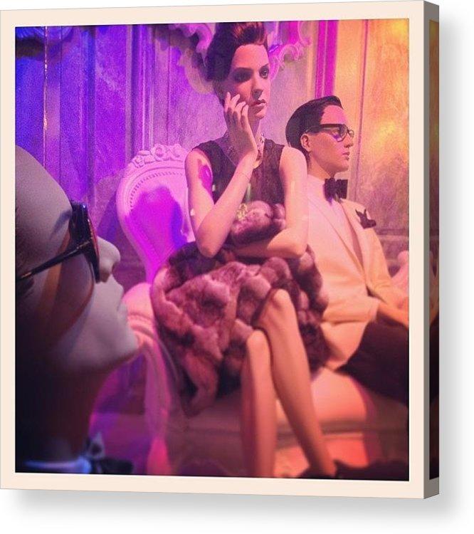 Europe Acrylic Print featuring the photograph Socialites by Randy Lemoine