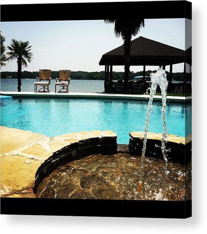 Lake Acrylic Print featuring the photograph This is the Life by Lea Ward