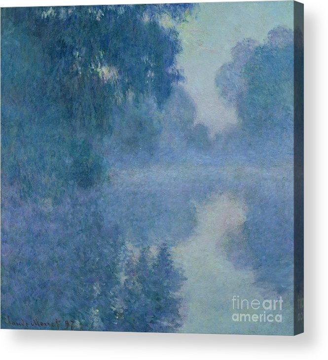 Impressionist Acrylic Print featuring the painting Branch of the Seine near Giverny by Claude Monet