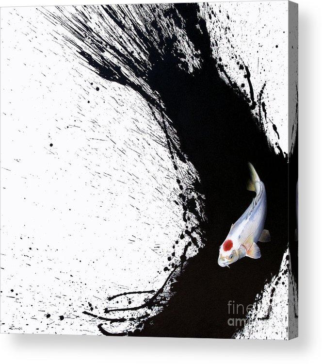 Tancho Acrylic Print featuring the painting Carpe Diem by Sandi Baker