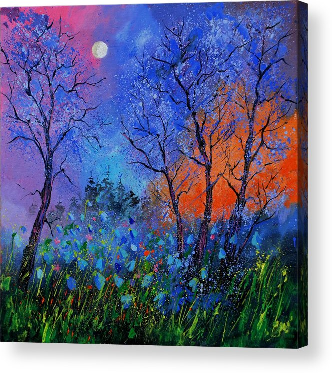 Landscape Acrylic Print featuring the painting Magic wood by Pol Ledent