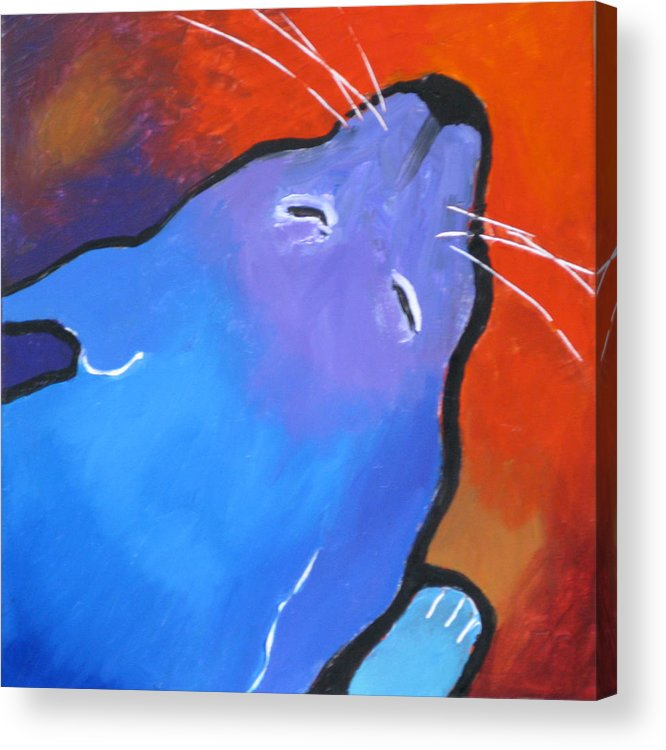 Cat Acrylic Print featuring the painting Sleep by Robert Bissett