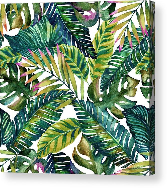 Summer Acrylic Print featuring the digital art Tropical by Mark Ashkenazi