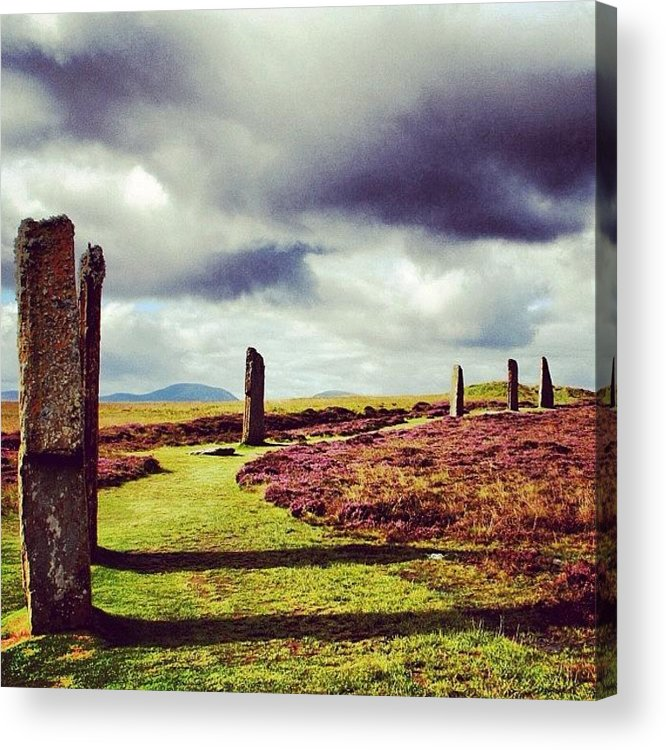 Stones Acrylic Print featuring the photograph Ring Of Brodgar by Luisa Azzolini