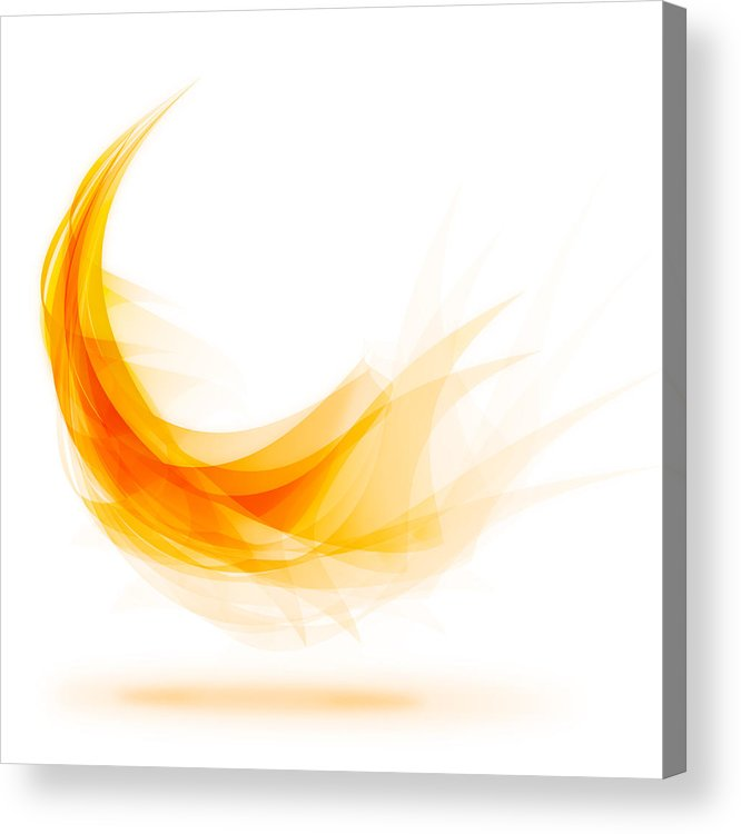Abstract Acrylic Print featuring the painting Abstract feather by Setsiri Silapasuwanchai