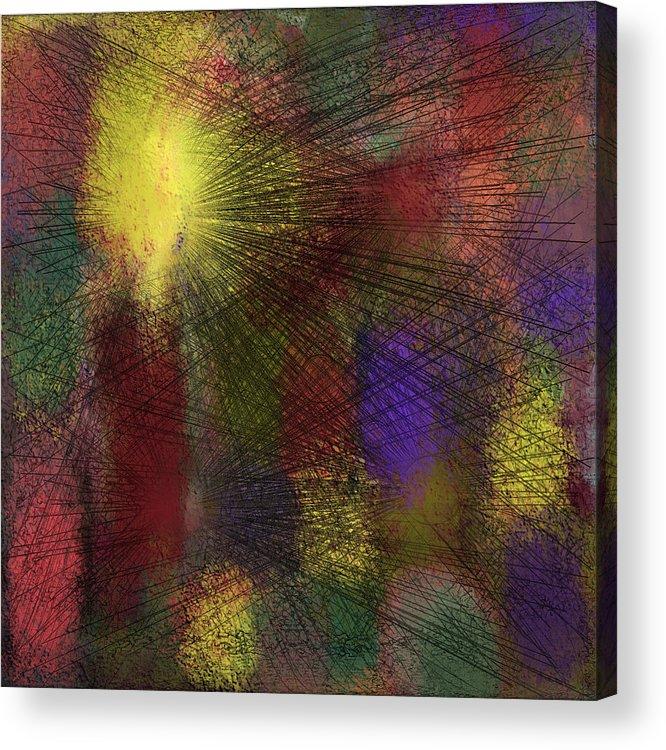 Digital Acrylic Print featuring the digital art Abstraktion in Farben by Ilona Burchard