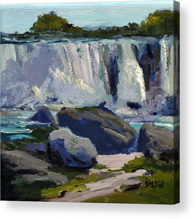 Niagara Falls Acrylic Print featuring the painting American Falls by J R Baldini