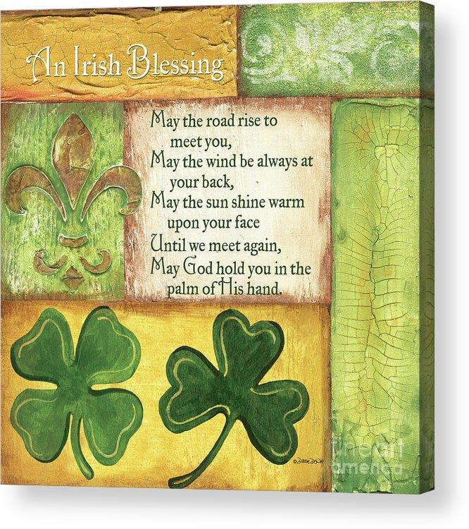 Irish Acrylic Print featuring the painting An Irish Blessing by Debbie DeWitt