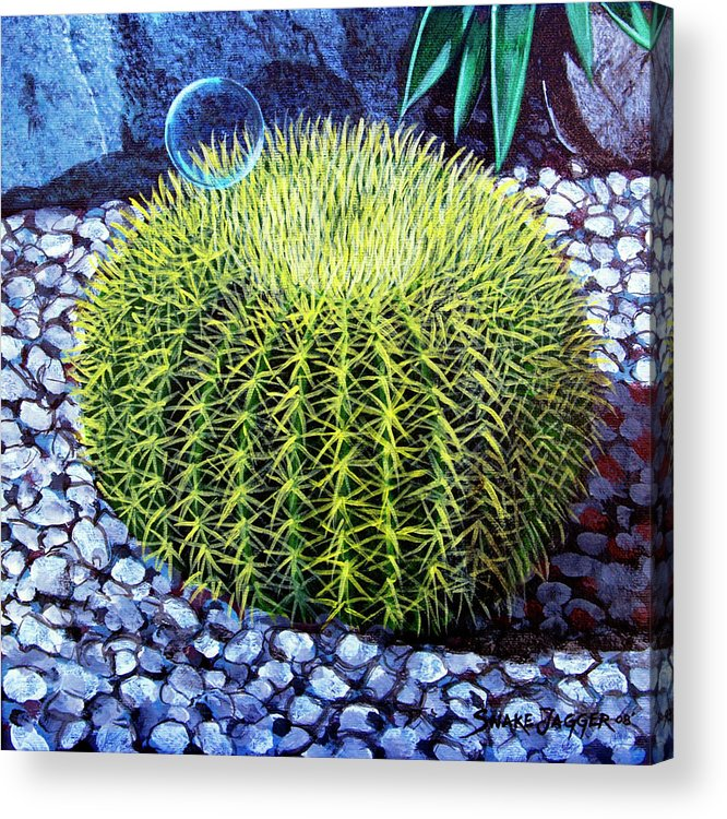 Nature Acrylic Print featuring the painting Barrel Bubble by Snake Jagger