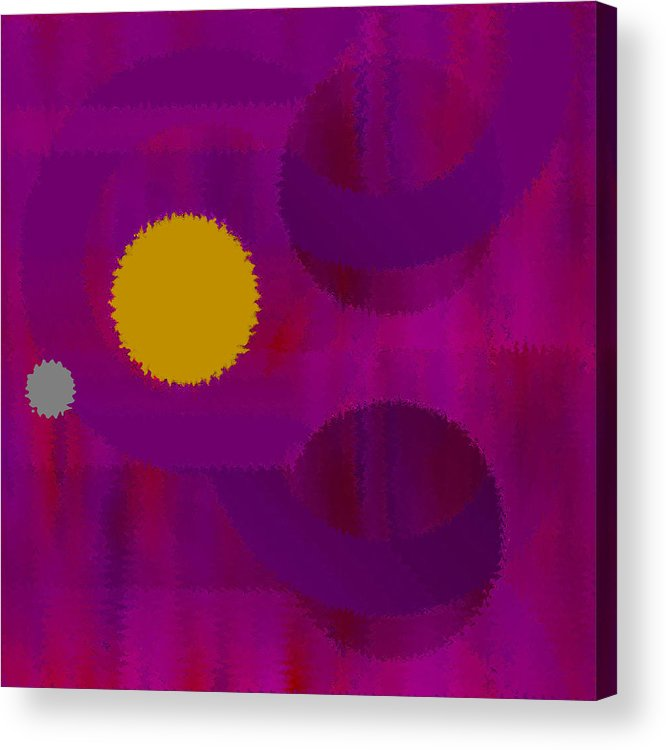 Abstract Acrylic Print featuring the digital art Be Happy by Ruth Palmer