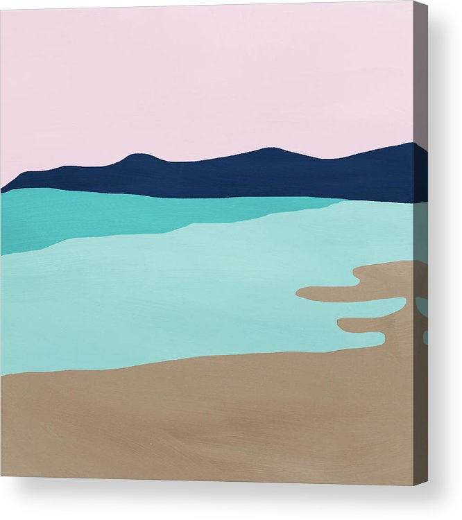 Beach Acrylic Print featuring the mixed media Beach Cove- Art by Linda Woods by Linda Woods