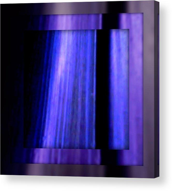 Joan Kamaru Acrylic Print featuring the digital art Blue Column ART by Joan Kamaru