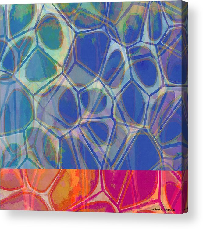 Painting Acrylic Print featuring the painting Cell Abstract One by Edward Fielding