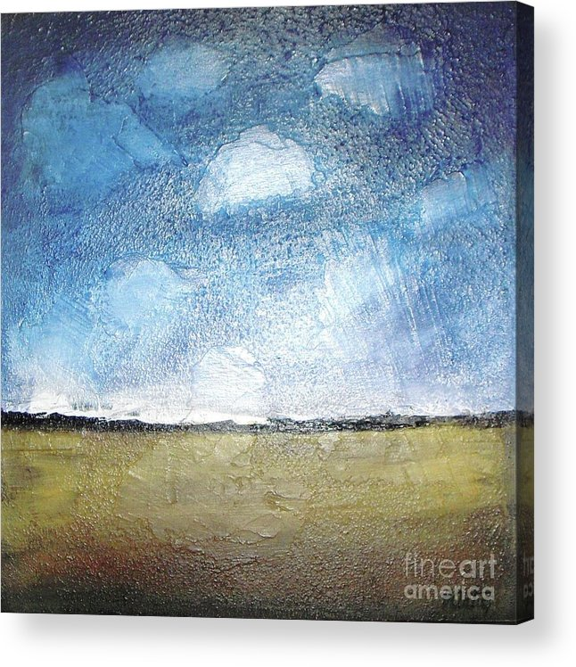 Clouds Acrylic Print featuring the painting Flying Clouds by Vesna Antic