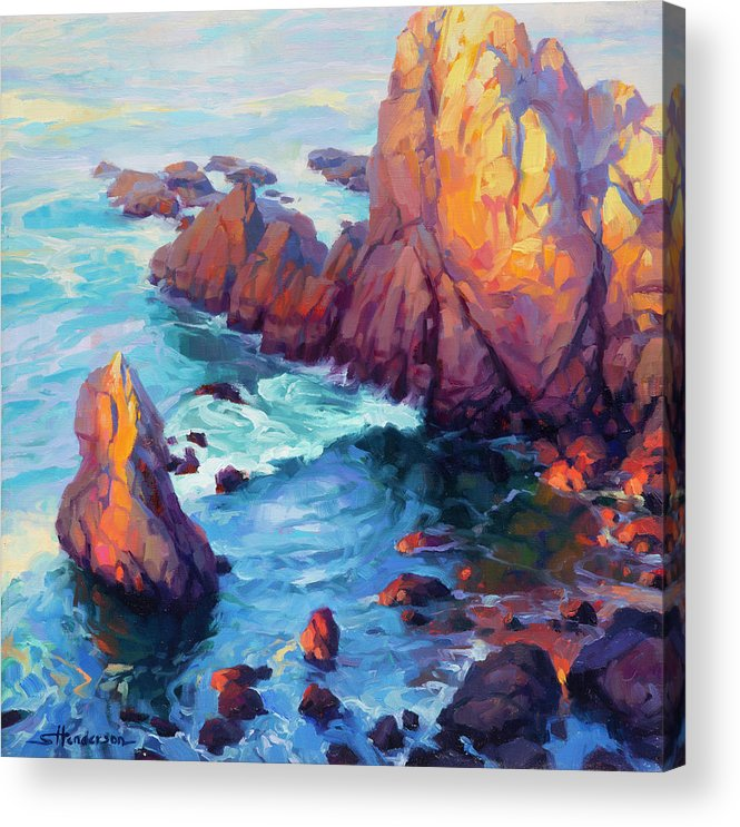 Ocean Acrylic Print featuring the painting Convergence by Steve Henderson