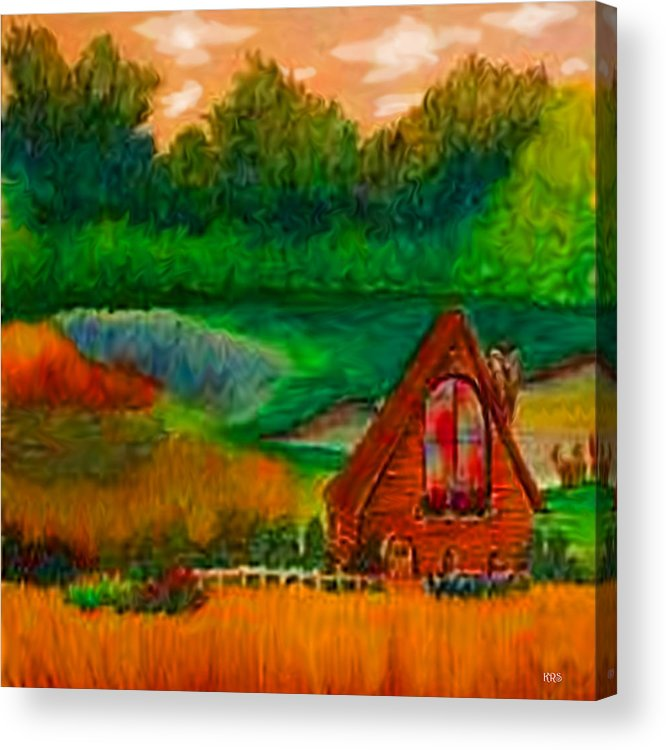 Landscape Acrylic Print featuring the drawing Country by Karen R Scoville
