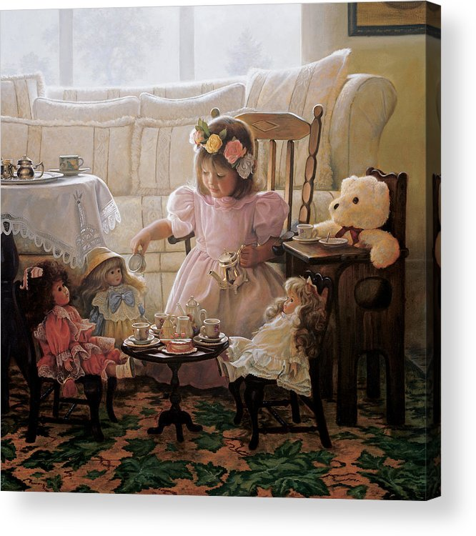 Girl Acrylic Print featuring the painting Cream and Sugar by Greg Olsen