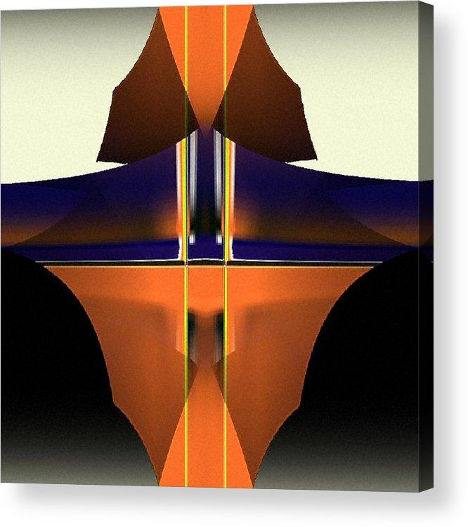 Digital Acrylic Print featuring the digital art Digital Abstract 5 by Ilona Burchard