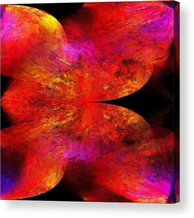 Digital Acrylic Print featuring the digital art Digital Abstract 8 by Ilona Burchard