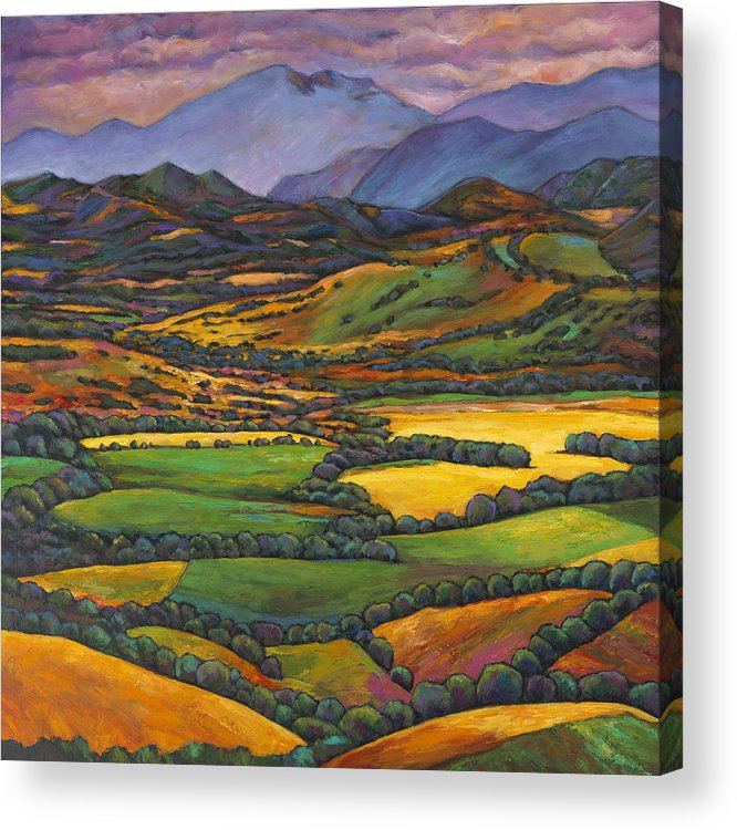 European Landscape Acrylic Print featuring the painting Draped in a Dream by Johnathan Harris