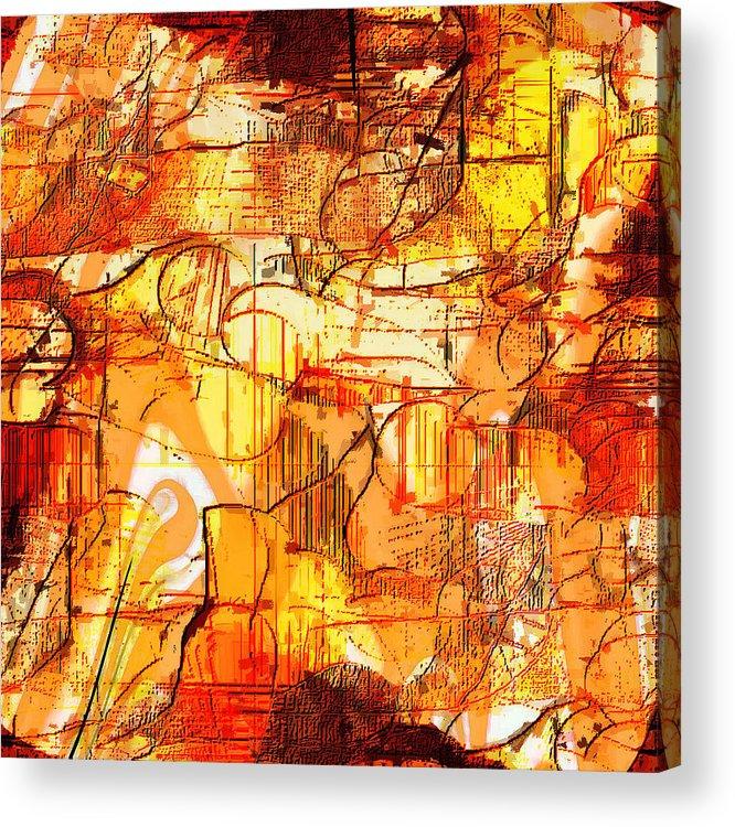 Digital Acrylic Print featuring the digital art Dream Abstract by Ilona Burchard