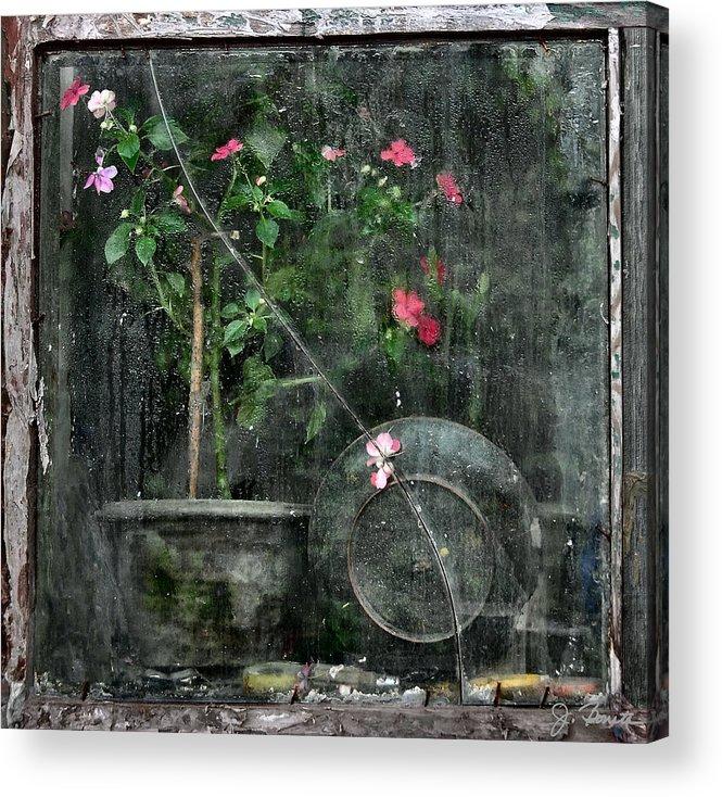 Window Acrylic Print featuring the photograph Drizzled Window by Joe Bonita