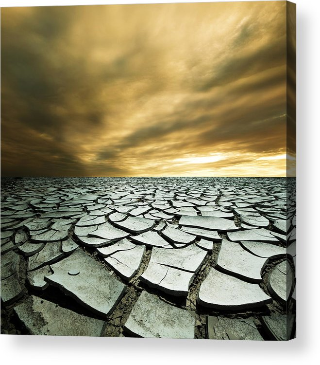 Desert Acrylic Print featuring the photograph Dry Lowlands by Zarija Pavikevik