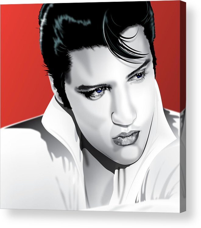 Elvis Acrylic Print featuring the digital art Elvis by Brian Gibbs
