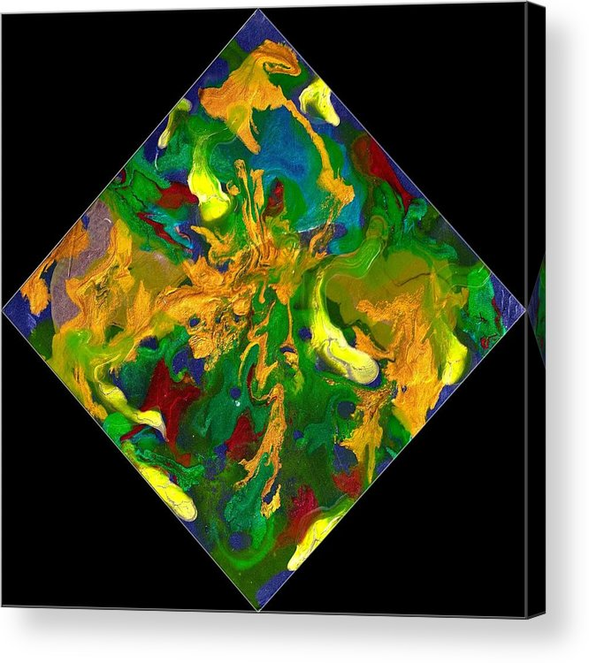 Abstract Acrylic Print featuring the painting Evolution Series 1008 by Dina Sierra